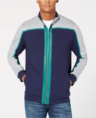 Club Room Men Colorblocked Fleece Full-Zip Jacket