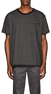 ATM Anthony Thomas Melillo MEN'S DISTRESSED PINSTRIPED COTTON OVERSIZED T-SHIRT-BLACK SIZE S