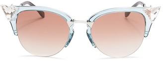 Fendi Iridia Cat Eye Sunglasses, 52mm $520 thestylecure.com