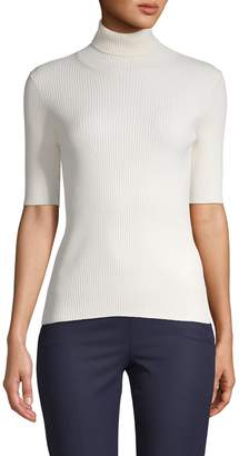 Valentino Turtleneck Short-Sleeve Sweater