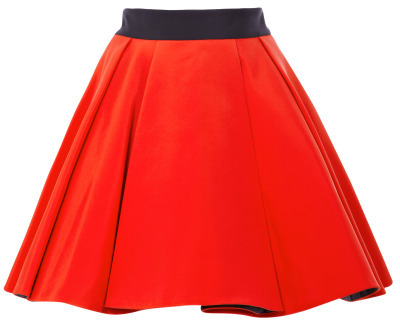 Fausto Puglisi Pleated Cady Skirt