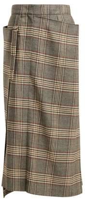 Joseph Beck Tartan Wool Kilt Skirt - Womens - Grey Multi
