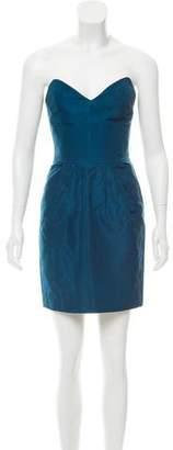 Miu Miu Strapless Mini Dress