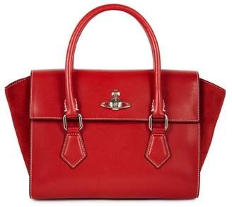 Vivienne Westwood Matilda Red Leather Tote