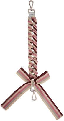 Fendi Grey Mini Ribbon Strap You Bag Strap