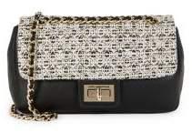 Karl Lagerfeld Paris Agyness Leather/Tweed Shoulder Bag