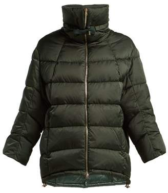 Herno Funnel Neck Quilted Down Jacket - Womens - Dark Green