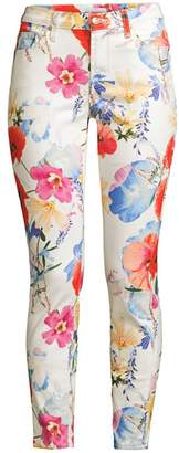 7 For All Mankind The Ankle Skinny Floral Print Jeans