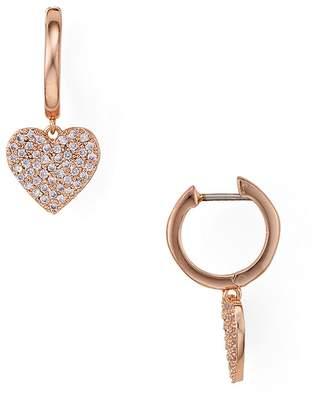 Kate Spade Pavé Heart Drop Earrings