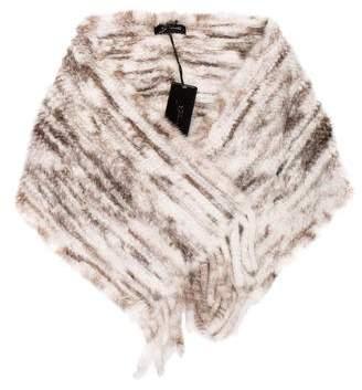 Gorski Apres Ski Knit Mink Stole w/ Tags
