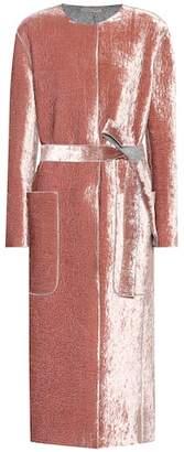 Bottega Veneta Belted velvet coat