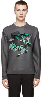 Christopher Kane Grey Embroidered Wallbreak Sweatshirt