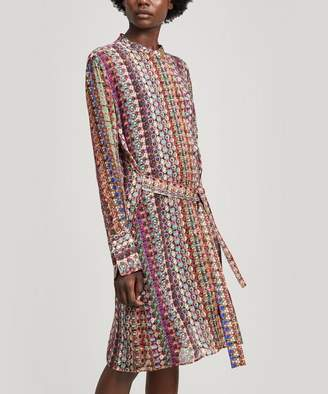 Paul Smith Semi-Sheer Button Print Shirt Dress