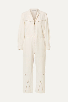 Stella McCartney Twill Jumpsuit - Ivory