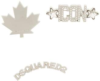 DSQUARED2 logo brooches set