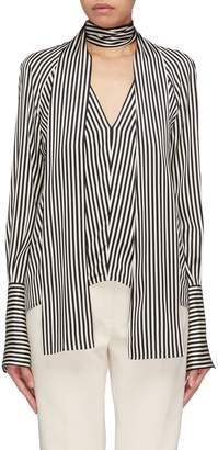 Petar Petrov 'Eike' sash tie neck stripe V-neck blouse