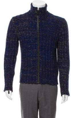 CNC Costume National Rib Knit Wool Blend Sweater