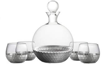 Daphne 5-Piece Round Decanter Set, Silver