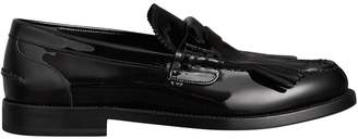 Burberry Kiltie Fringe Patent Leather Loafers