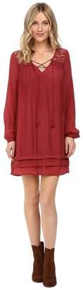 Brigitte Bailey Sigrid Long Sleeve Dress with Lace Detail Women's Dress