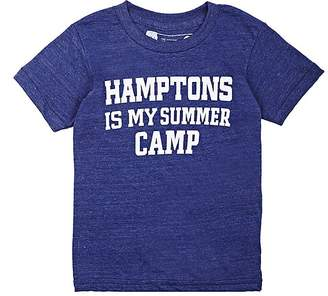 "Little DiLascia Kids' ""Hamptons Is My Summer Camp"" Jersey T-Shirt"
