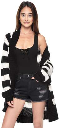 Juicy Couture Striped Oversize Cardigan