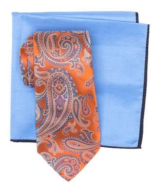 Ted Baker Silk Ornate Satin Paisley Tie & Pocket Square