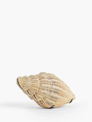 Talbots Shell Wicker Crossbody Bag
