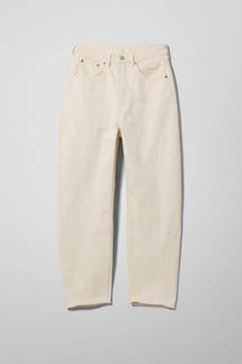 Weekday Meg Ecru Jeans - Beige