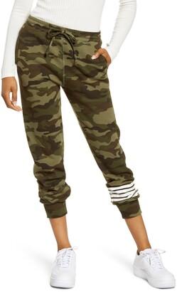 Sub Urban Riot Sub_Urban Riot Camo Stripe Crop Sweatpants