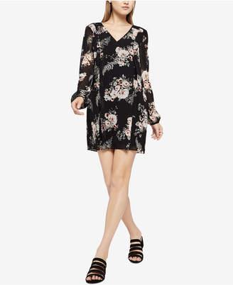 BCBGeneration Floral-Print Bow-Back Shift Dress