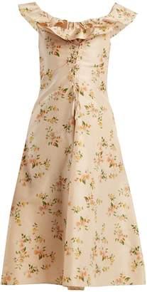 Brock Collection Dawn off-the-shoulder silk-taffeta dress