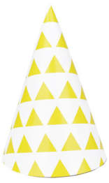 DAY Birger et Mikkelsen Sale - Yellow triangles Party hats - set of 8 - My Little