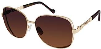 Jessica Simpson Women's J5512 Gldts Non-Polarized Iridium Round Sunglasses