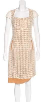Lela Rose Linen Lace Dress