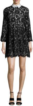 Alice + Olivia Women's Terisa Lace Collared Flare Dress