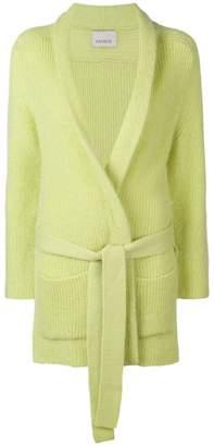 Laneus belted cardi-coat