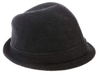 Ben Sherman Felt Leather-Trimmed Hat