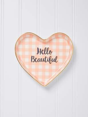 Draper James Hello Beautiful Heart Trinket Tray