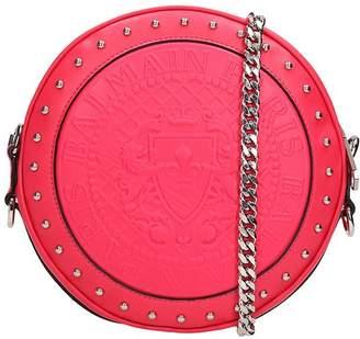 Balmain Red Leather Disco Bag