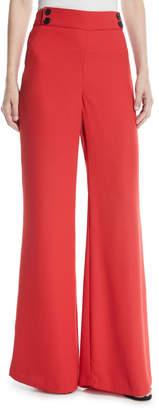 Veronica Beard Taren High-Waist Wide-Leg Trousers