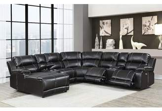 Canora Grey Yates Left Hand Facing Reclining Sectional Canora Grey