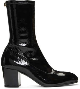 Gucci Black Patent Printyl Boots