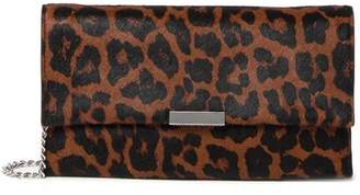 Loeffler Randall Tab Genuine Calf Hair Clutch