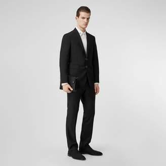 Burberry Slim Fit Press-stud Tumbled Wool Tailored Jacket