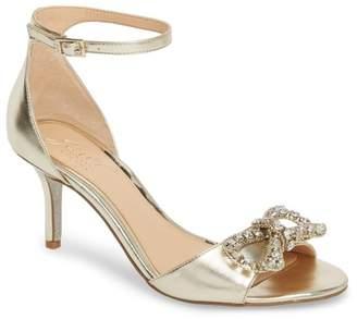 Badgley Mischka Miguela Crystal Bow Sandal