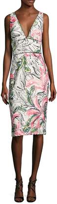 Kay Unger Women's Sleeveless Floral Cocktail Dress