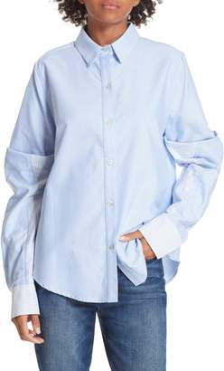 Clu Colorblock Cotton Poplin Shirt