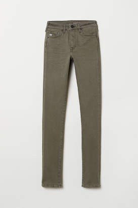 H&M Shaping Skinny Regular Jeans - Green
