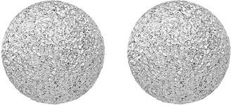 Italian Silver 8mm Textured Ball Earrings